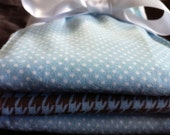 Premium Baby Burp Cloth Set- Blue and Brown