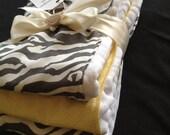 Premium Baby Burp Cloth Set-Gray and Yellow