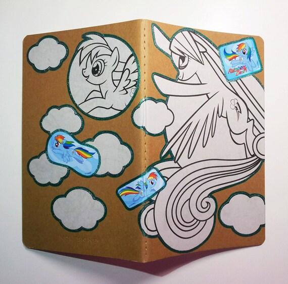 My Little Pony Rainbow Dash G4 Moleskine Cahier Large Ruled Journal Teal Glitter Pegasus Pony