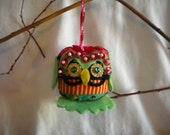 Jolly Chistmas Owl Ornament, Stella the Xmas Owl