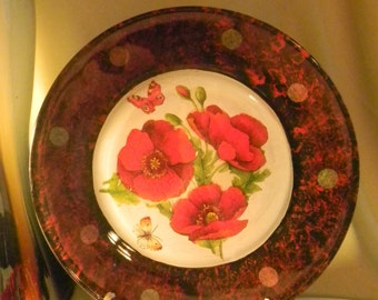 Decorative Plate Red Poppies