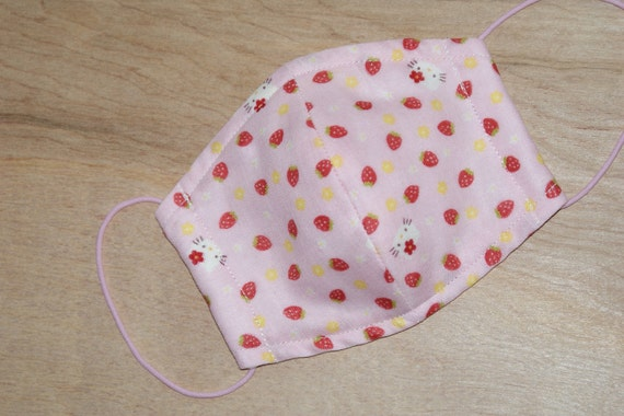 "Double Gauze Facial Mask for Children Made with ""Hello Kitty Stawberry and Tio Tio Antibacterial Gauze"""