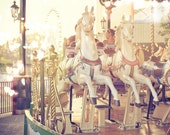 Dreamy Merry-go-Round photograph romantic carousel carnival childhood memory nursery decor fine art photo love valentine gift for her sunny