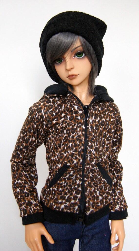 Leopard Print Hoodie for 60cm/SD13 BJD Boy