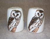 Owl Salt & Pepper Shakers Signed By J. Landry