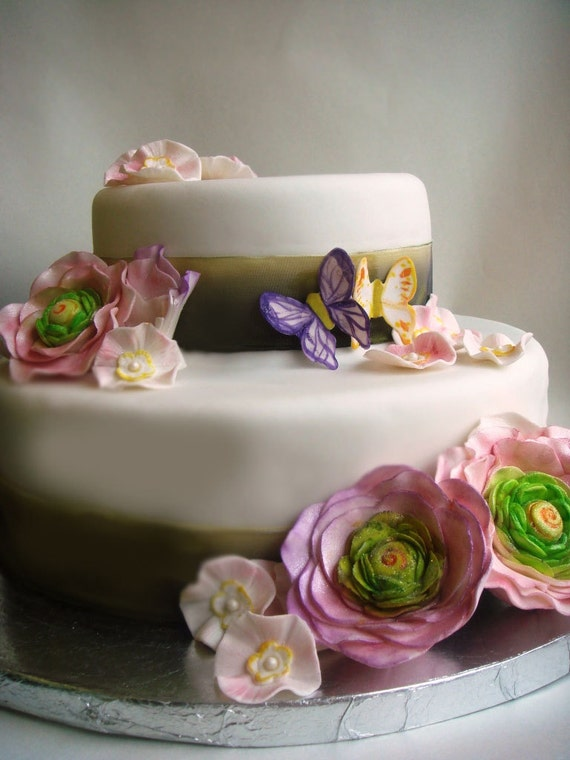 Items similar to Edible Cake Decorations- DIY Wedding ...