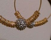 Basketball Wives Inspired Rhinestone Hoop Earrings