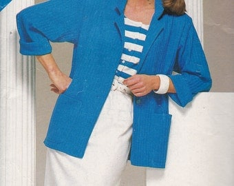Simplicity 5498, Size 8-10-12, See and Sew Pattern, Misses' Jacket, Top and Skirt, UNCUT, Vintage Pattern, Career Wear, Casual