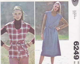 McCall's 6249 Misses' Jumper or Top Pattern, UNCUT, Size 12, Bust 34