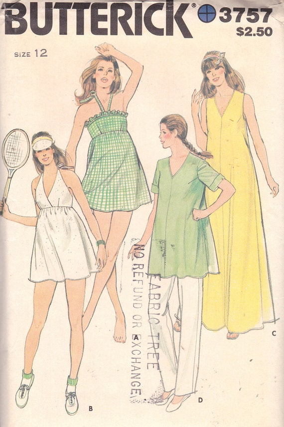 Butterick 3757 Misses' Maternity Swimsuits, Briefs, Cover-Ups and Pants Pattern, UNCUT, Size 12