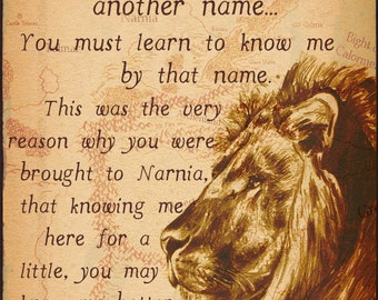 NARNIA   Lion, The Witch and the Wardrobe Inspired 8X10 Fine Art Prints