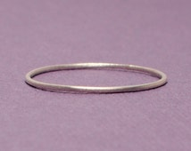 Thin Silver Ring / Size 3 Ring / Tiny Silver Ring/ Simple Silver Ring/ Sterling Silver Ring/ Silver Band/Teeny Weenie Ring *Sterling Silver*