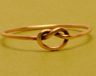 Gold Knot Ring/ Size 9.25 Ring/ Thin Gold Ring/ Friendship Ring/ Gold Filled Ring/ Tiny Gold Knot Ring/ Teeny Weenie Tied Ring *Gold Filled*