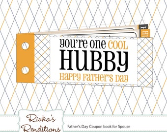 Father's Day Coupon book digital Print & Cut File - DXF, SVG and PDF