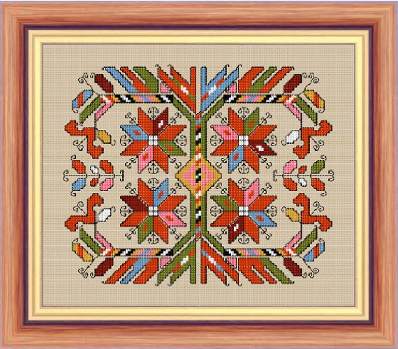 Items similar to bulgarian embroidery cross stitch