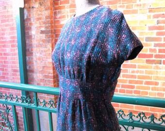Vintage Madmen  cotton tweed dress suit .