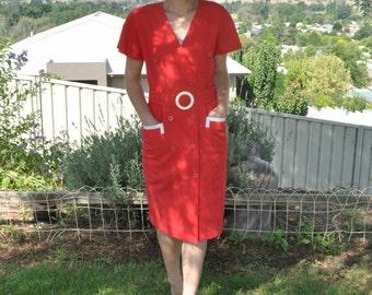 Vintage diner red dress