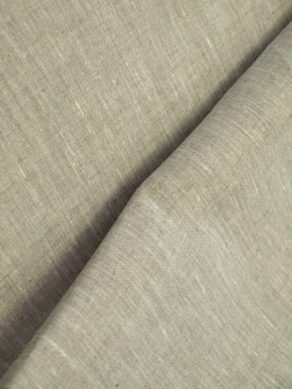 Cotton Linen blend natural fabric Tan  vintage look Super Width 79 inch LightWeight  Eco-friendly - 1/4 yard