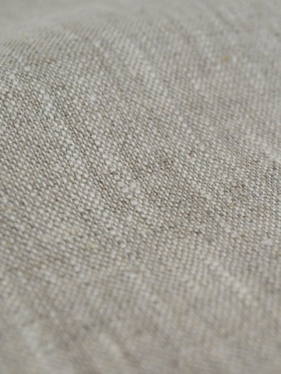 100% Linen Fabric Natural Cloth Undyed Unbleached W 59 inch Medium Weight Eco-friendly - Custom yardage
