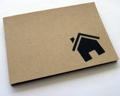 Change of address postcards // recycled kraft paper // set  of 12 - PaperPapelPapier