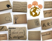 Recycled kraft postcards - set of 12