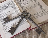 Collection of Three Antique Vintage French Keys