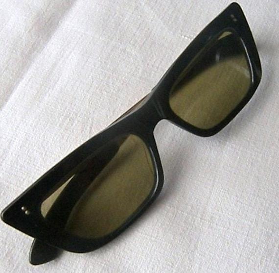Vintage Sunglasses, 1950's Black Framed Sunglasses, Very Vintage Sun Eyewear Frames