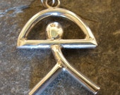 Sterling Silver Indalo Man, Unisex  Pendant or Key Ring - also available in 9ct gold (also called El Indalo or Almeria Man)