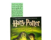 Bookmark with Handwritten Calligraphy . Harry Potter Quote . Green . That Flighty Temptress Adventure