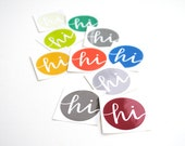 Pantone Stickers . Fall Fashion Colors for Men . Hi . Vinyl Envelope Seals with Modern Calligraphy . Set of 10