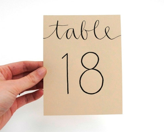 CUSTOM TABLE NUMBERS for Megan