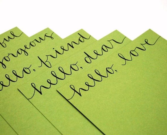 Terms of Endearment Flat Notecards in Grass - Set of 10