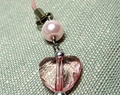 Pink Heart Lightweight Phone Charm