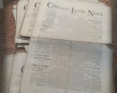 1894 Vintage Very Old Chicago News Print Newspaper from 1800's