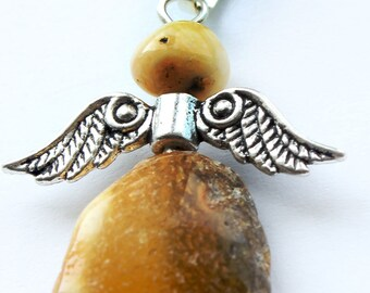 Baltic Amber Angel Pendant
