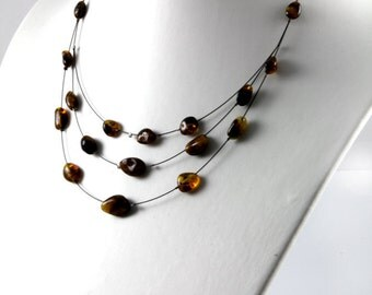 Baltic Amber Necklaces Black polished beads