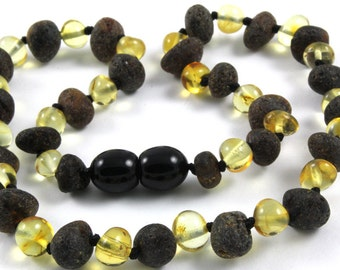 Baby Teething Necklace Baltic Amber Beads