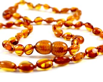 Baltic Amber Baby Teething Necklace and Anklet for Baby