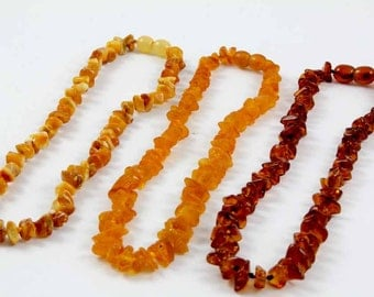 Baltic Amber Baby Teething Necklaces SET of 3