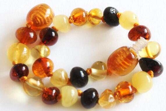 Baltic Amber Teething Anklet Bracelet, Natural baltic amber, True Baltic amber, Nursing anklet, Nursing baltic amber, gift, ambre, Bernstein
