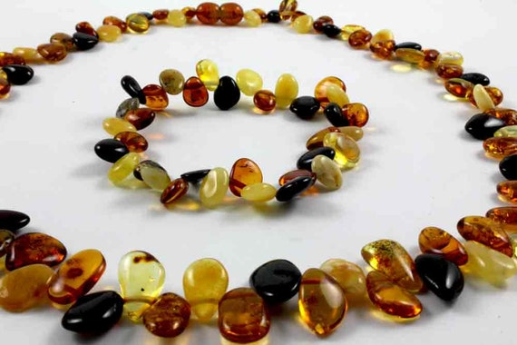 Baltic Amber Necklace and Bracelet Set of 2