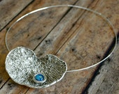 Fine Silver and Dichroic Glass Necklace