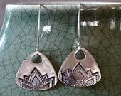 Fine Silver Impression Earrings