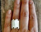Fine Silver Organic Ring