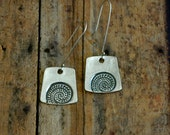Fine Silver Impression Earrings