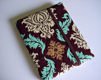 Kindle/Nook/iPad mini/Samsung Tab Cover/case in Aviary 2 Damask Bark