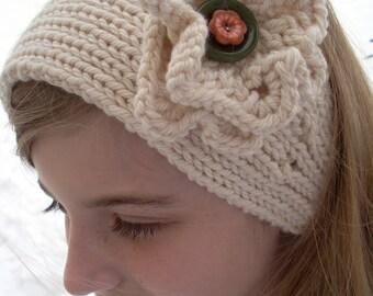 Flower Headband Quick Easy Pattern PDF