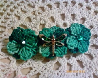Green Dragongfly Barrette