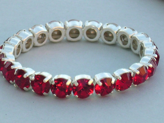 red tennis bracelet swarovski crystal bracelet stretch tennis. Black Bedroom Furniture Sets. Home Design Ideas