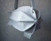 Military Dirigible Purse (Blimp Bag) Unisex Teen Grey Felt Bag